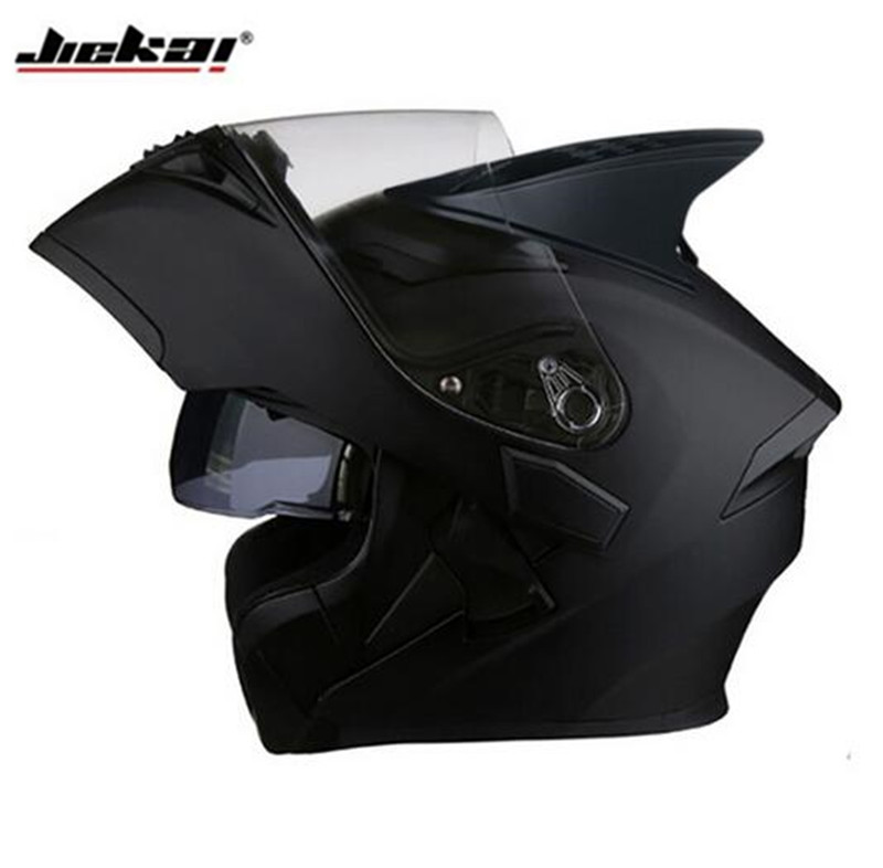 JIEKAI Motorcycle Helmet Motobike Flip Up Helmet With Inner Sun Visor Safety Double Lens Modular Motocross Full Face Helmets