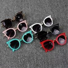Детские солнцезащитные очки, брендовые Детские очки кошачий глаз для девочек и мальчиков с линзами UV400, детские солнцезащитные очки, милые о...