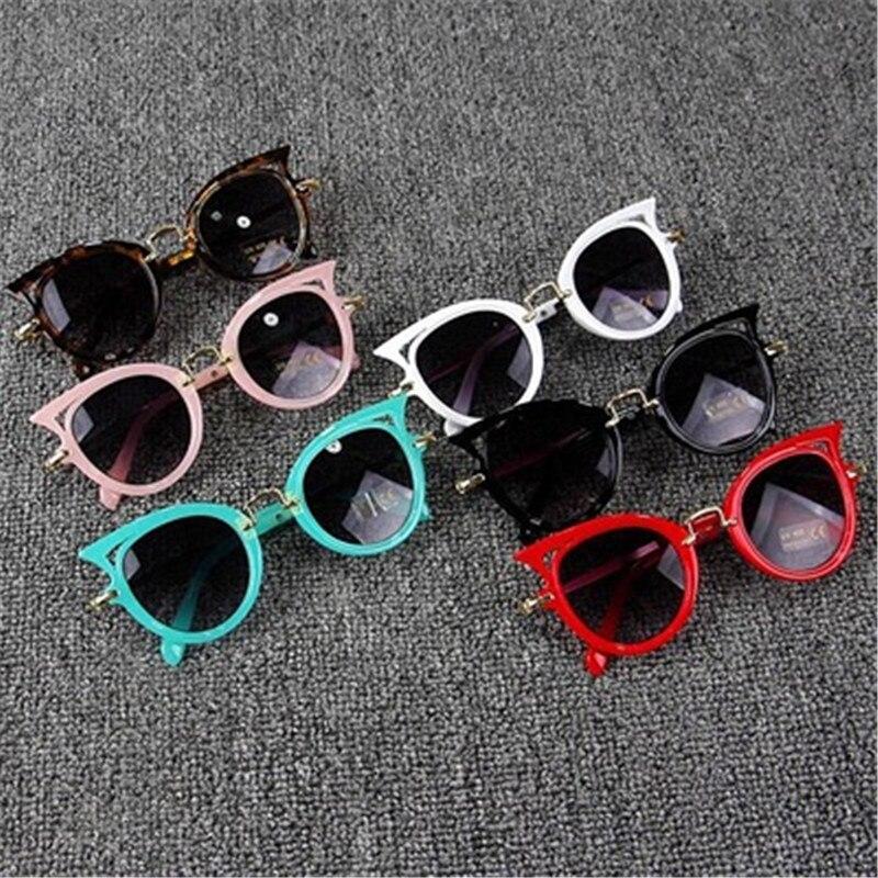 2018 Kids Sunglasses Girls Brand Cat Eye Children Glasses Boys UV400 Lens Baby Sun glasses Cute Eyewear Shades Goggles