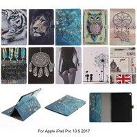 Moda Animal Prints DEEVOLPO Tirón de la Carpeta de Cuero de LA PU de la Tableta Protector Fundas Para el ipad de Apple Pro 10.5 2017 10.5 ''pulgadas