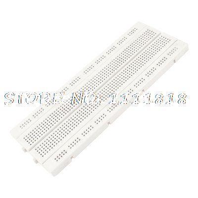 Plastic Solderless Breadboard 840 Tie Point PCB Panel 175 x 67 x 8mm solderless breadboard with 400 tie point white