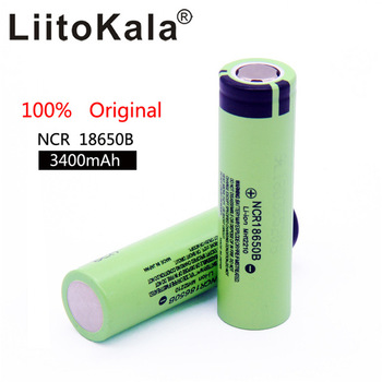 Литиевая аккумуляторная батарея NCR18650B, 3,7 В, 3400 мАч, для фонариков, 100% оригинал, 100 шт./партия