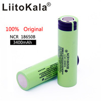 100 pcs lot/100% Original new NCR18650B 3.7V 3400mAh 18650 rechargeable lithium battery for flashlight batteries