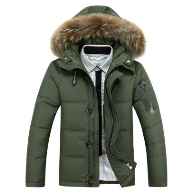 down     coat   winter thick   down   jacket mid-long real fur collar thick parka high quality fashion
