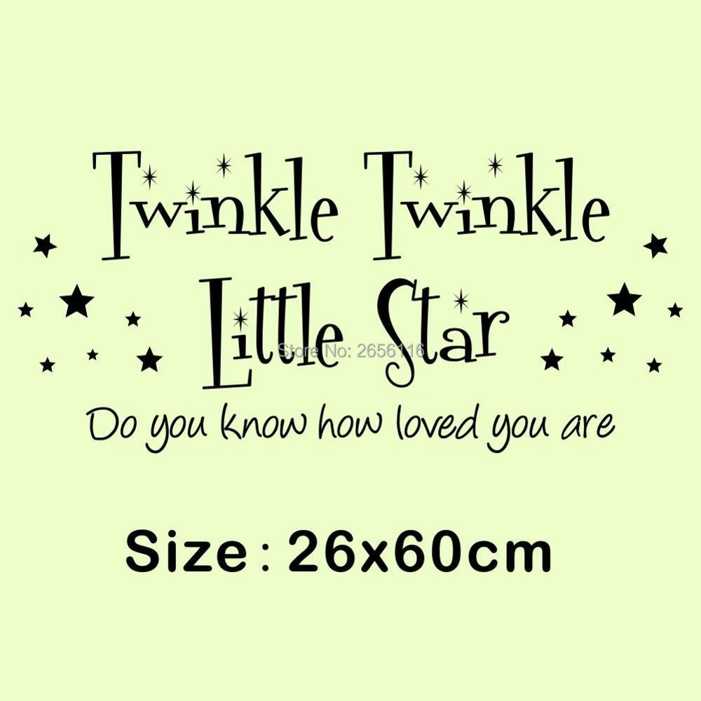 Twinkle Twinkle Little Star Wall Stickers DIY Cute Stars Art Letter ...