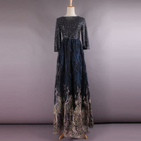 2017 High Quality Spring and Summer Newest Gorgeous Fancy Designer Diamond Shining Bright Black Sexy Formal Long Dress