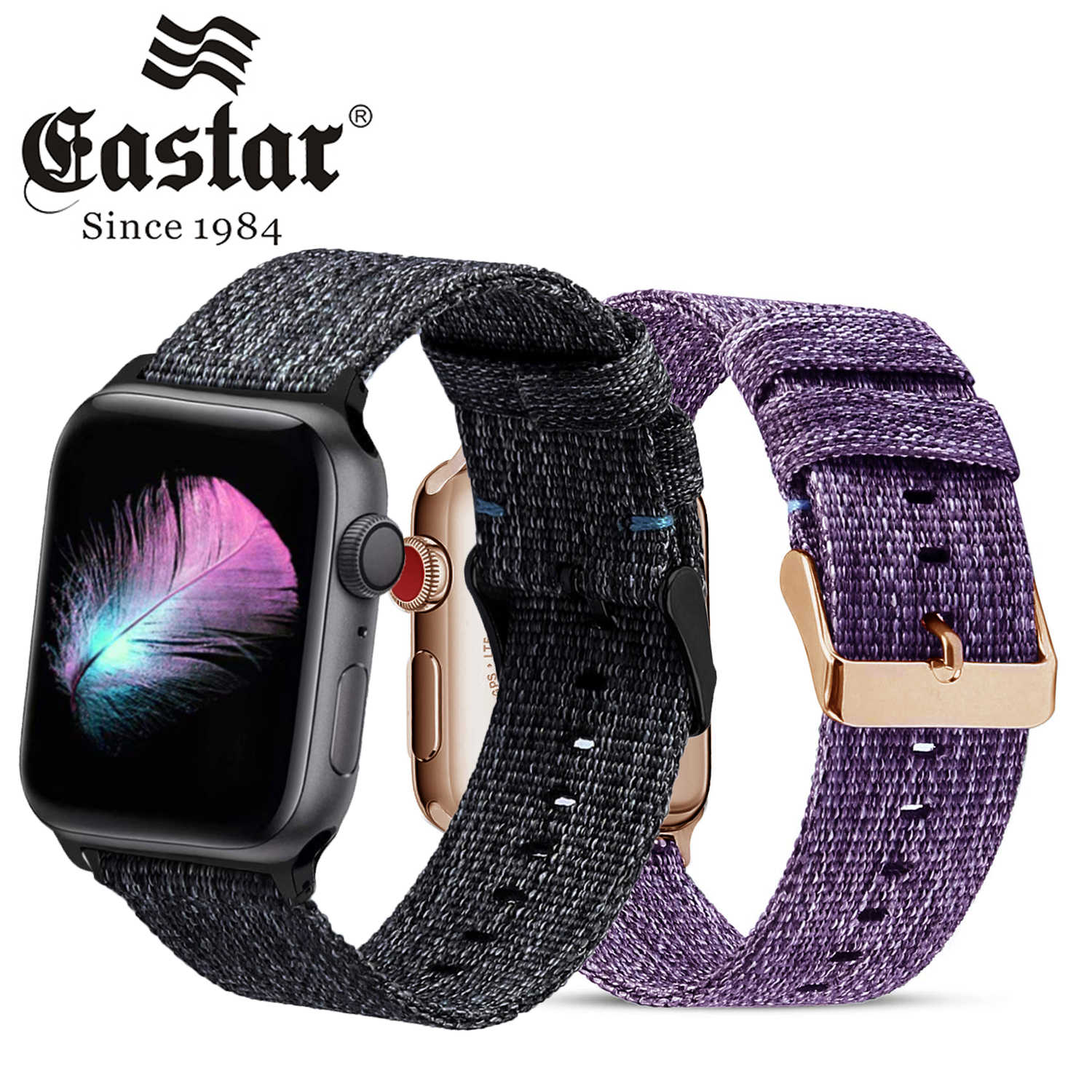 Woven Nylon strap For Apple Watch Series 3/2/1 38MM 42MM Breathable Replacement Strap Sport Loop for iwatch series 4 40MM 44MM
