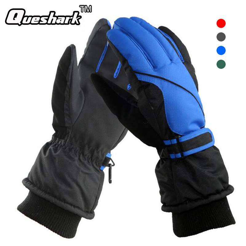 Men's Snowboard Ski Gloves Snowmobile Motorcycle Riding Winter Warm Skiing Gloves Windproof Waterproof Unisex Cycling Gloves цена