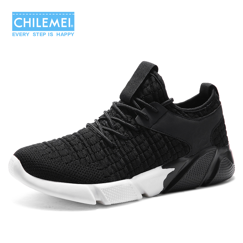 Men Shoes 2018 New Spring Summer Flying Woven Casual Shoes Wear Non-slip Shoes Young Boy Popular Style Of Social Platform