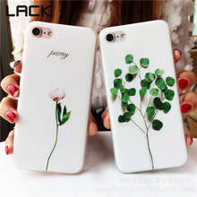 LACK Hot Selling Plants Leaves Tulip Flower Case For iphone7 Cute Cartoon 3D Relief Leaf Phone Case For iphone 7 Plus Cover