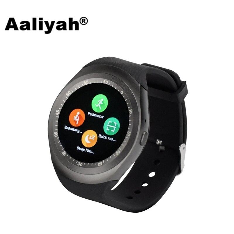 imágenes para Aaliyah Nuevo V1 Bluetooth Inteligente Reloj Redondo Relogios reloj Soporte Nano SIM TF Tarjeta Whatsapp Hombres Mujeres Smartwatch Para IOS Android
