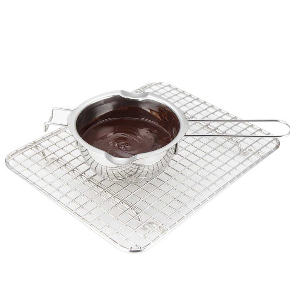 Stainless Steel Chocolate Butter Milt Melt Ting Bowl Long Grip Handle DIY Pastry Cooking Dessert Baking Pastry Kitchen Tool