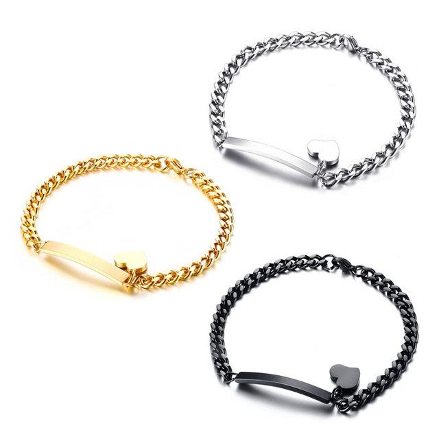 Trendy ID Heart Bracelet Bangle for Women