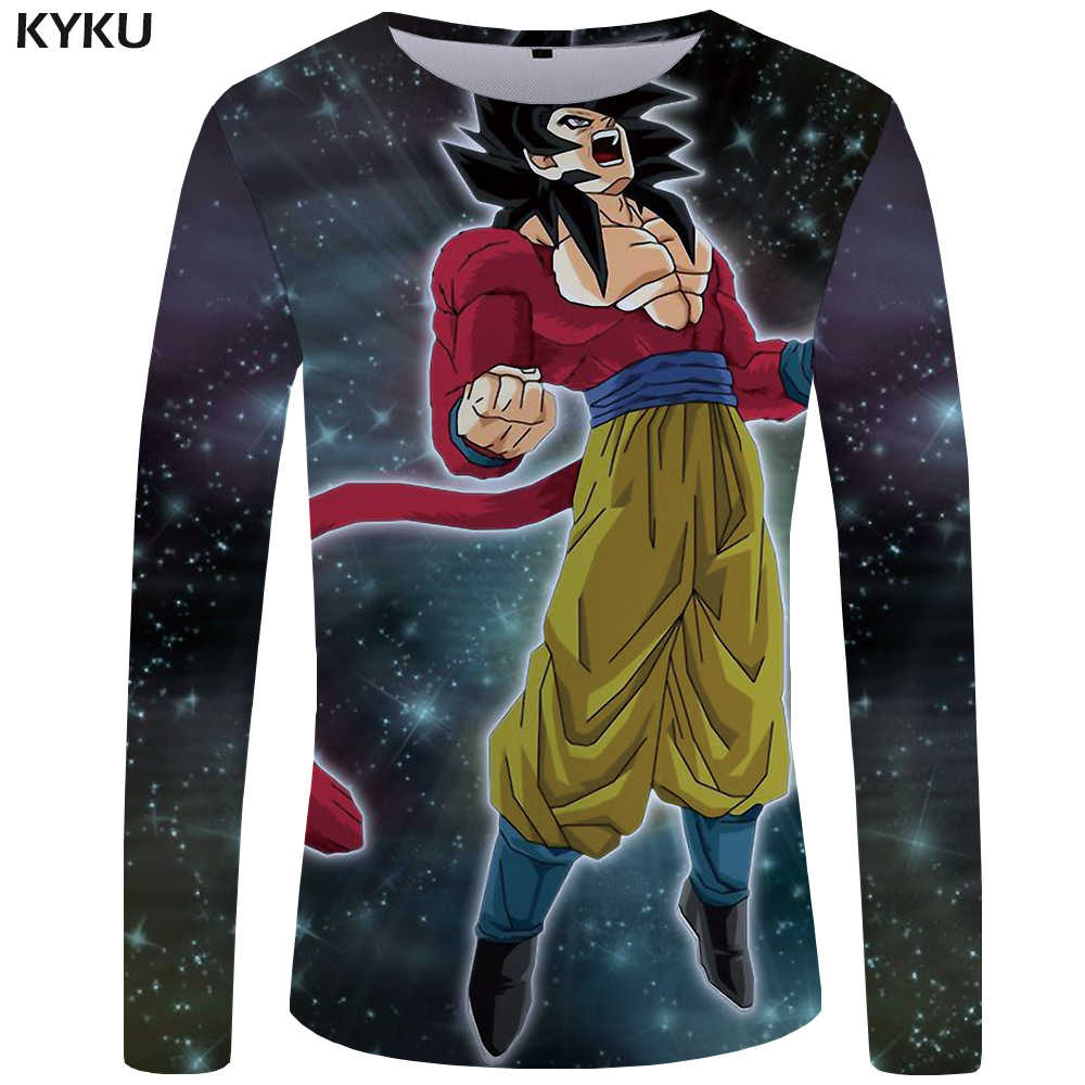 52c8dd93 KYKU Brand Dragon Ball Z T shirt Men Long sleeve T-shirt Goku Clothes  Starry Sky