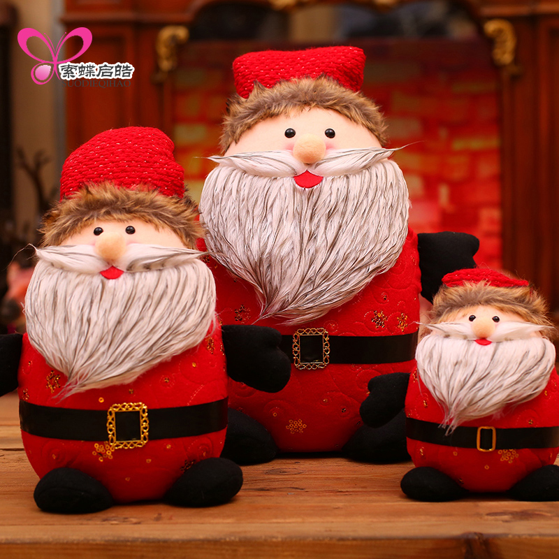 Merry Christmas Santa Claus Dolls Windows Display Home Decor Ornament Crafts Party New Year Decorations Christmas Gifts Natale new year santa claus socks pendants gift bags home christmas tree decorations ornaments baby shower natale