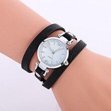 Moda Casual Quartz Relógio de Pulso das Mulheres de Couro Triplo Bracelet Watch lady Dress Watch Reloj Mujer Montre Femme amante presente