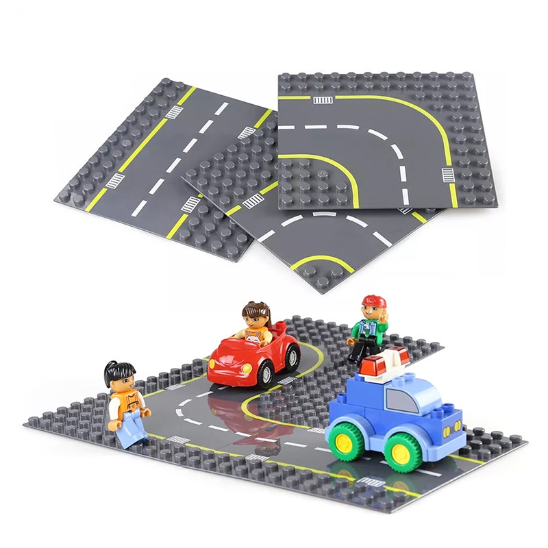 Big Size Diy Building Blocks Accessories Figure Cars Road Base Plate  Compatible with Legoingly Duploed Toys for Children Gift