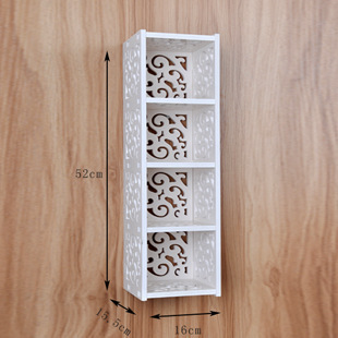 ... Ikea Style White Baroque Decoration Four Grids Furniture Pastoral Wall  Set / Hanging Functional Shelves CD