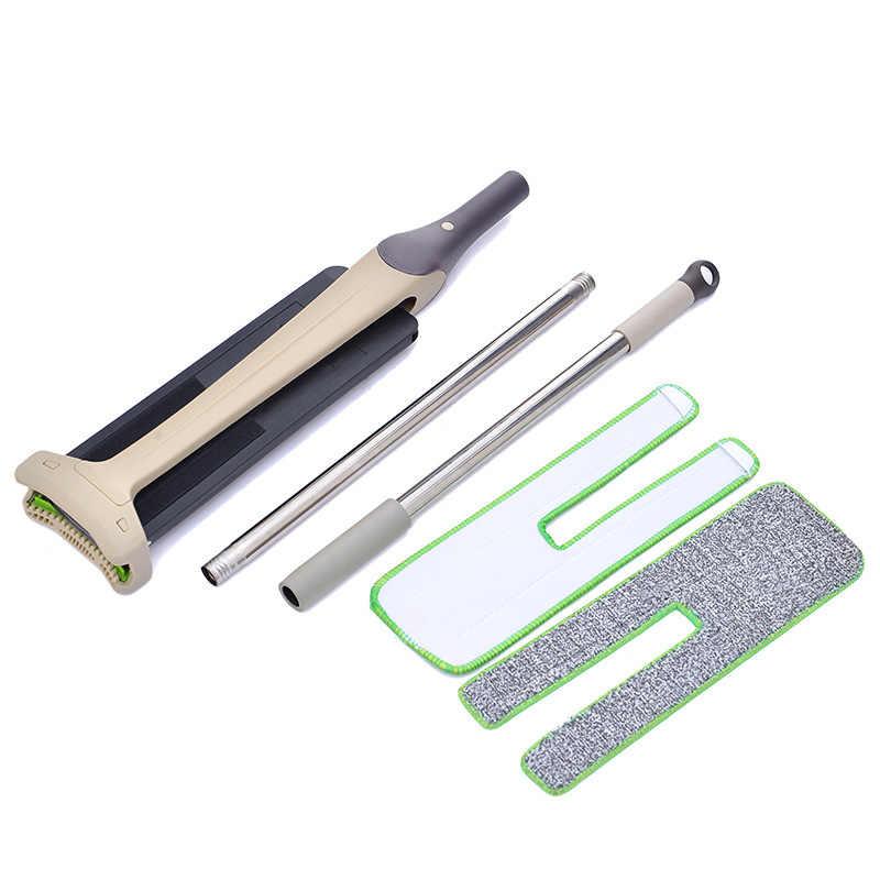 360 Graus Preguiçoso do Dobro-Lado Hands-Free Lavável Mop Plano Mop Ferramenta de Limpeza Lavar Chão