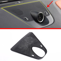 For Maserati Levante Car styling Aluminum Alloy Black Dashboard Speaker Cover Trim Auto Accessories