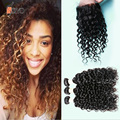 Wet And Wavy Human Hair Weave 4 Bundles With Closure Water Wave 7a Siyo Hair Products With Lace Closure Indian Virgin Hair
