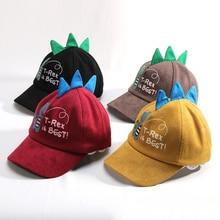 Hot Sale Cartoon Animal Dinosaur Baseball Cap Boys Girls Black Red Yellow Hat for Kids