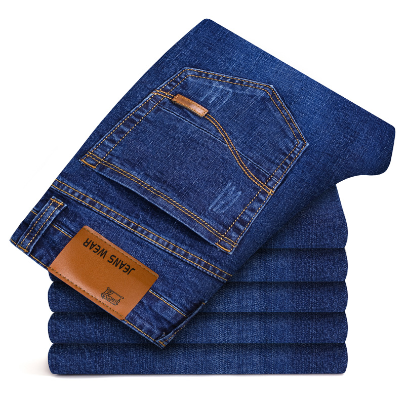 Jeans Men (28-40) Autumn New Business Slim Stretch Straight Large Size Casual Simple Classic High Quality Plus Size Jeans 2019