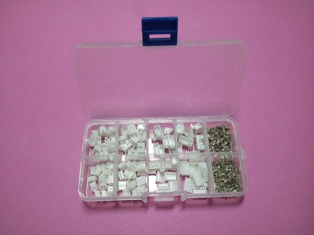 60 sets Kit in box 2p 3p 4p 5 pin 2.0mm Pitch Terminal Housing Right Angle Pin Header Connector Wire Connectors Adaptor PH Kits 60 sets kit 2p 3p 4pin right angle 2 54mm pitch terminal housing pin header connector wire connectors adaptor xh kits in box