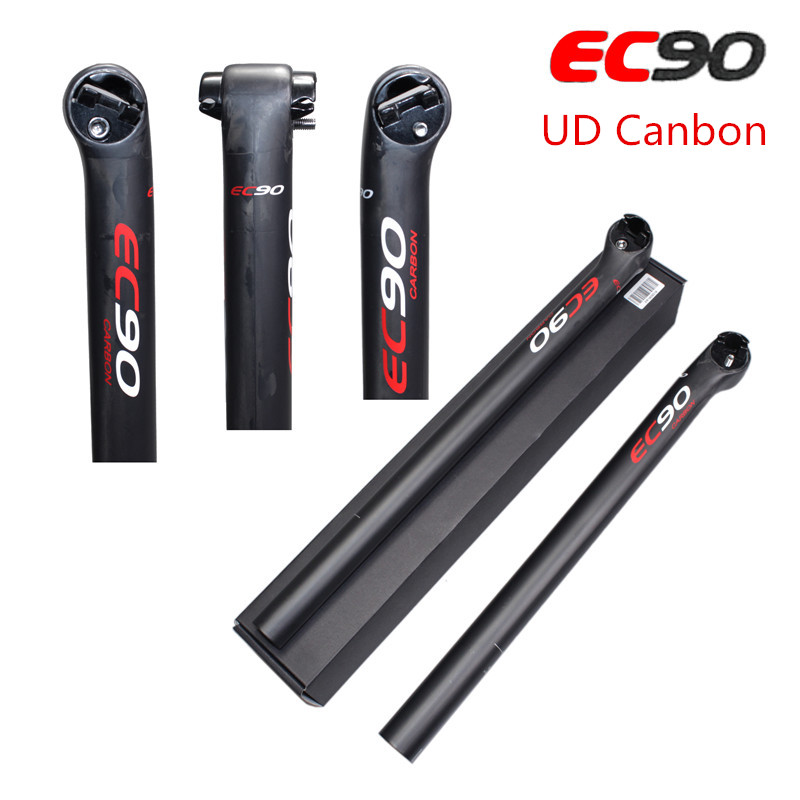 цена на 2016 EC90 latest full carbon fiber bicycle seat post / seatpost / bicycle seat rod 5 degree Bike seatpost 27.2/30.8/31.6 UD Matt
