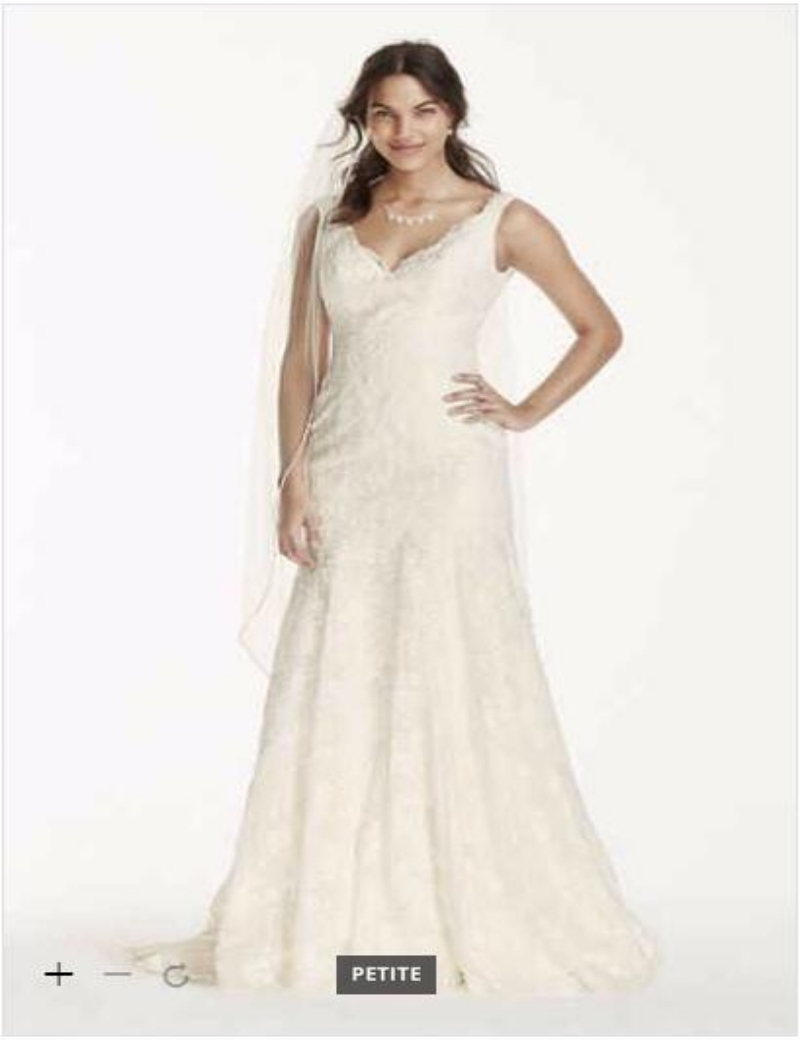 Online buy wholesale petite wedding from china petite for Petite lace wedding dresses