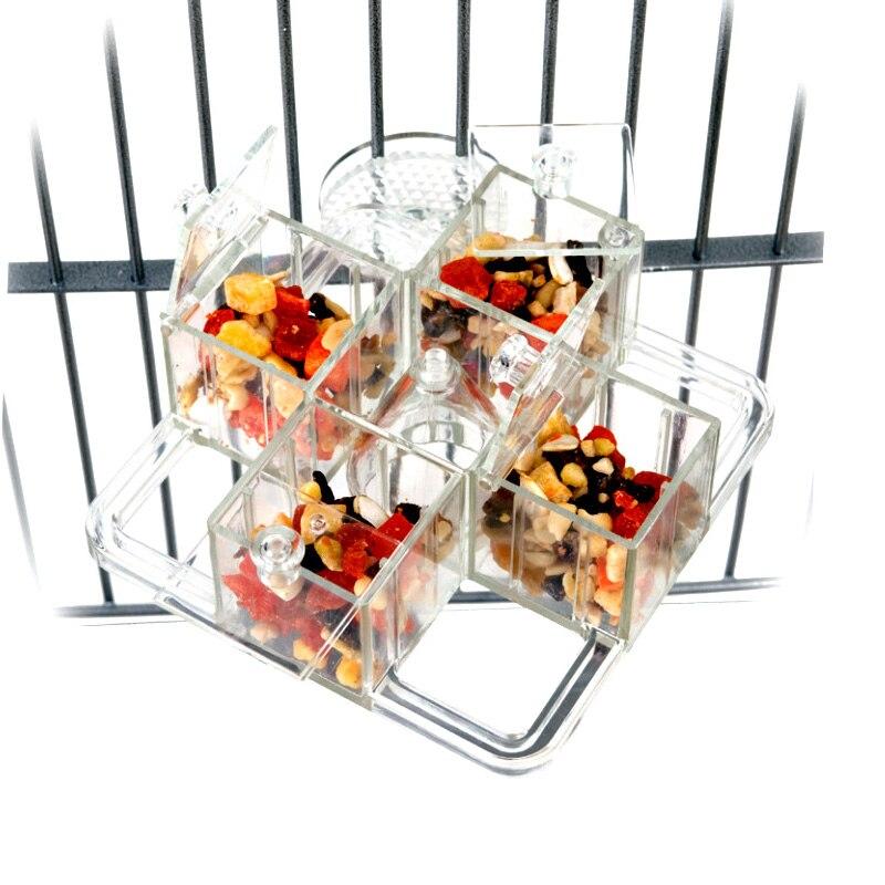 Jouets pour oiseaux CAITEC carrousel de nourriture dur Durable résistant aux morsures perroquet jouet de recherche de nourriture adapté aux perroquets moyens - 2