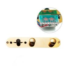 1 unid oro cargado Placa de control precableado interruptor para Fender Telecaster Guitarras