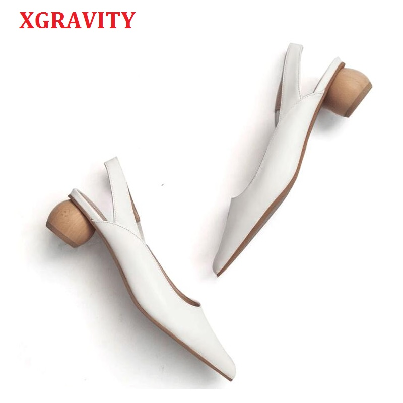XGRAVITY Sandals European All Matched Fashion Pointed Toe Sexy Dress Shoe Ladies Summer Women High Heel Strange Heel Pumps A089