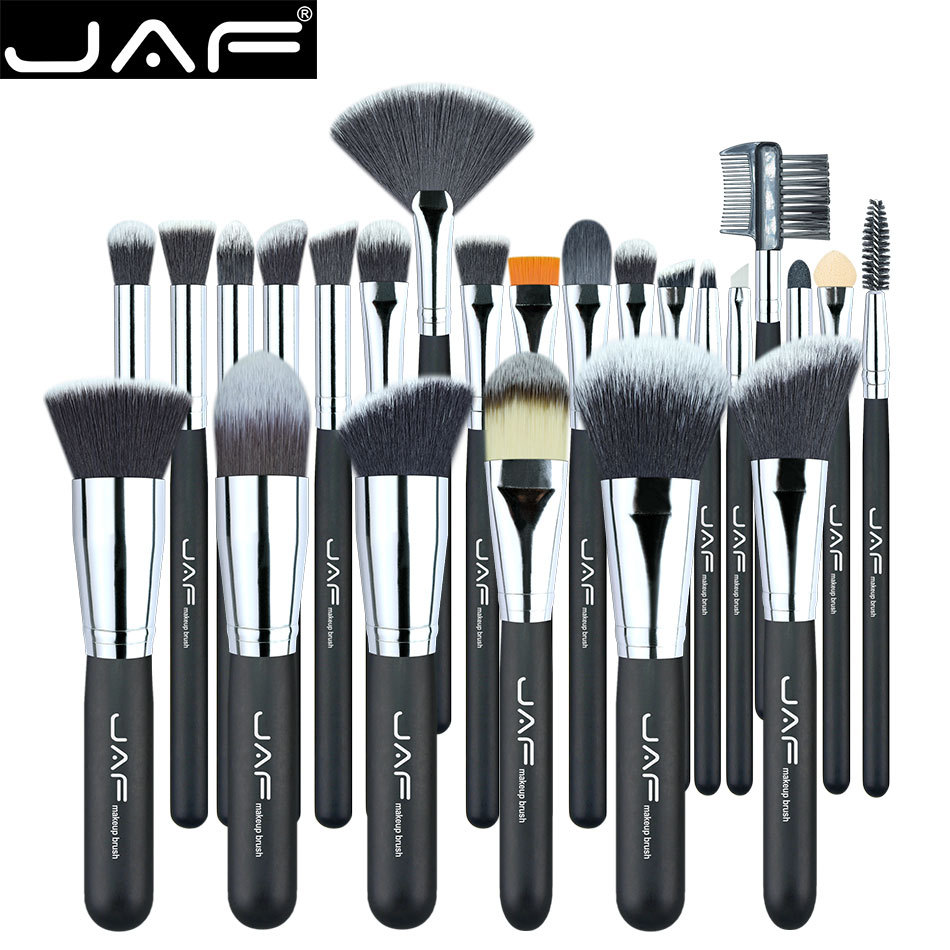 JAF Makeup Brushes 24 pcs Premiuim Makeup brush set High Quality Soft Taklon Hair Professional Makeup Artist Brush Tool Kit