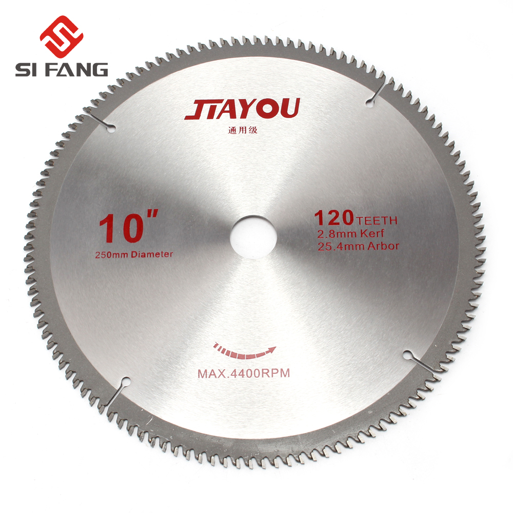 250mm 10-inch 40T/60T/80T/100T/120T Teeth Carbide Tip General Purpose Circular Saw Blade For Woodworking Hard Soft Wood Cutting