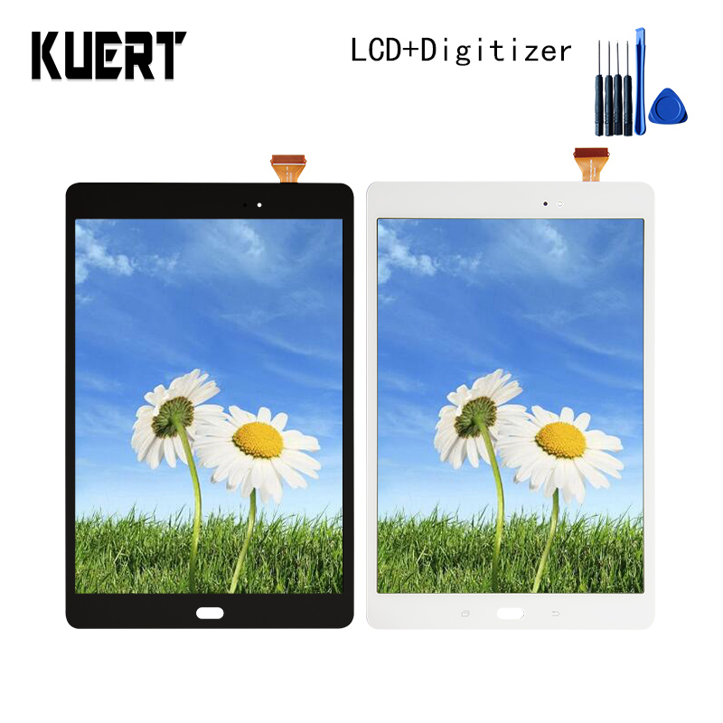 Panel LCD Combo Touch Screen Digitizer Glass LCD Display Assembly For Samsung Galaxy Tab A 9 SM-T550 Accessories Parts Tool for samsung galaxy mega 5 8 i9150 i9152 lcd display with touch screen digitizer assembly by free shipping