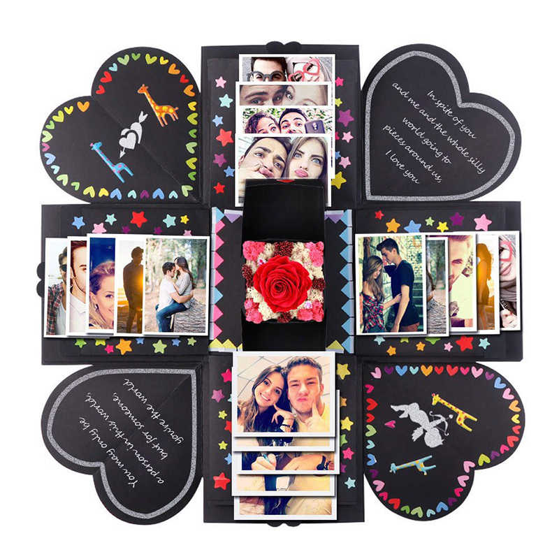 2019 Valentine's Day Surprise Gift Box Surprise Love Explosion Propose Props Photo Album Scrapbook Memory Anniversary Gifts
