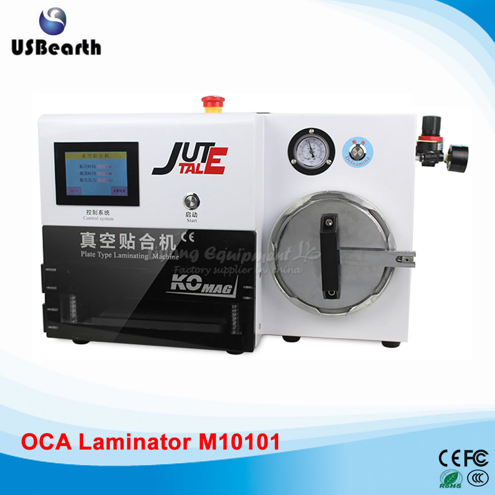 цена  KO-MAX plate type OCA Vacuum Laminator for 7 inches with built-in bubble defoam machine 220V 110V  онлайн в 2017 году