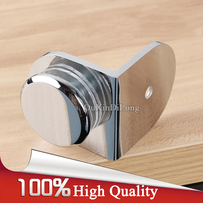 High Quality 4PCS Brass Shower Glass Clamps Clips 90 Degree Glass to Wall Fixed Holder Brackets Shelf Support Chrome Finished