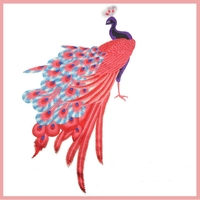 Lager DIY The Peacock Embroidery Pacth Plant And Animal Patch For Dress E Shirt Clothing Accessories