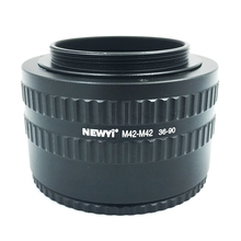 цена на NEWYI M42-M42 Mount Lens Adjustable Focusing Helicoid 36-90Mm Macro Extension Adapter camera Lens Converter Adapter Ring