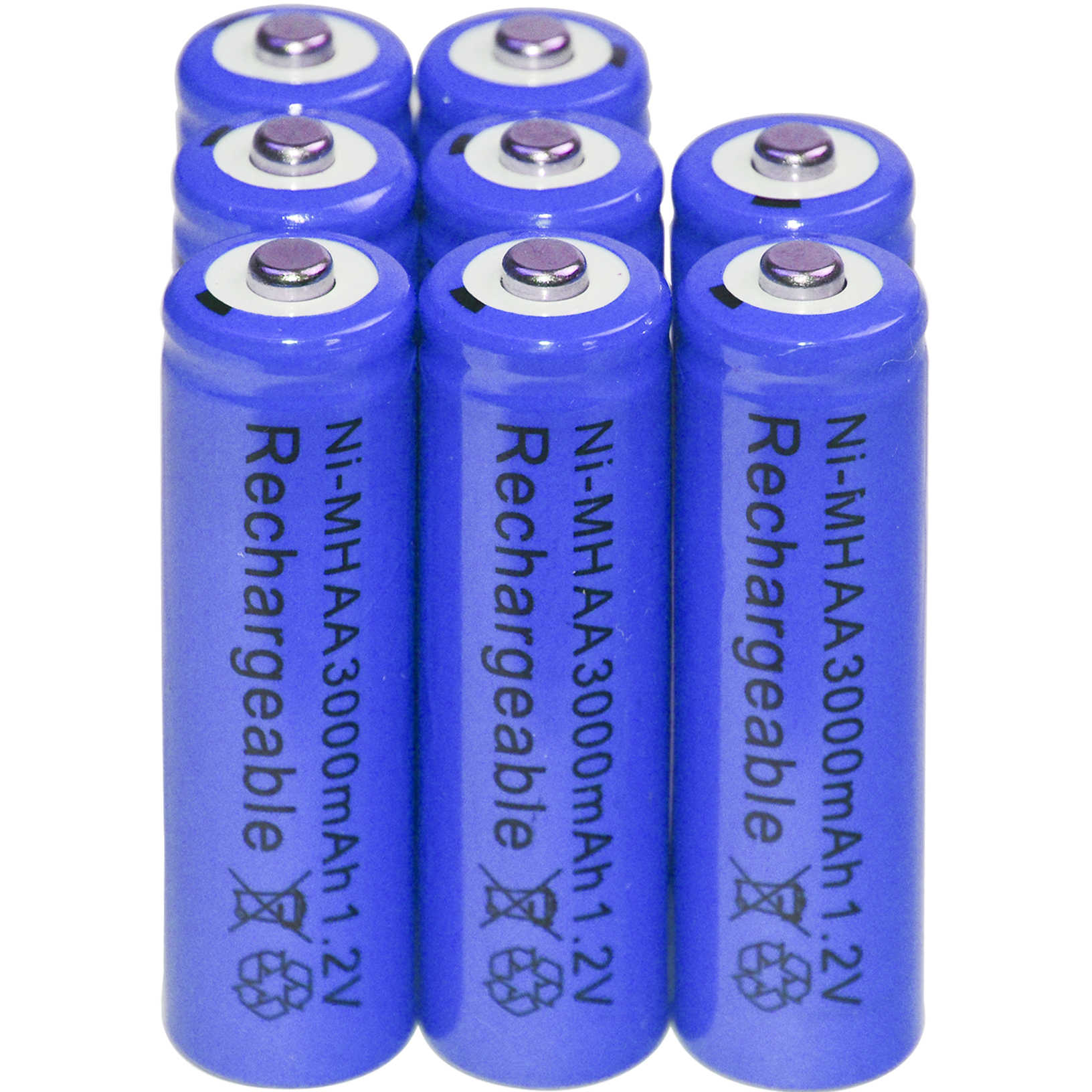 2/8/20/48 шт. AA батарея Перезаряжаемые металл-гидридных или никель 3000 мА/ч, 1,2 V Синий батарея оптом Никель гидрид