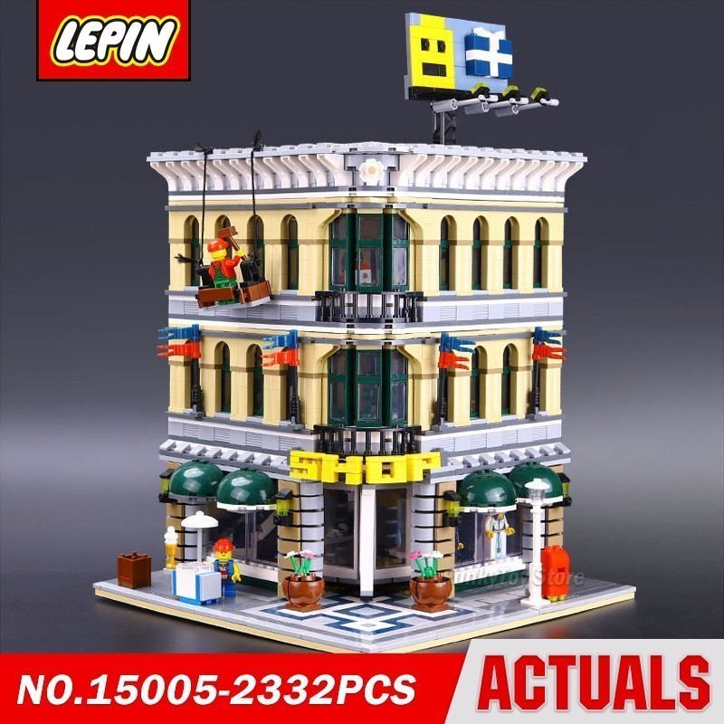 Lepin 15005 Corner Department Store 10211 City Street Series Model Building Block Brick Kits Assembling Gift Toys loz mini diamond block world famous architecture financial center swfc shangha china city nanoblock model brick educational toys