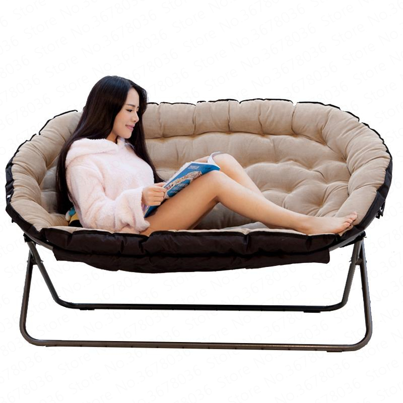 Rocking Chair Lazy Couch European Double Fabric Sofa Single Folding Home Leisure  Sofa Cama Plegable Bed Furnitur leather couch(China)