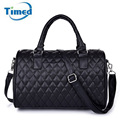 2016 New Women Brand Leather Handbags Black Plaid Pillow Tote bags Fashion all-match Shoulder Messenger Bag Lady Bolsa Feminina