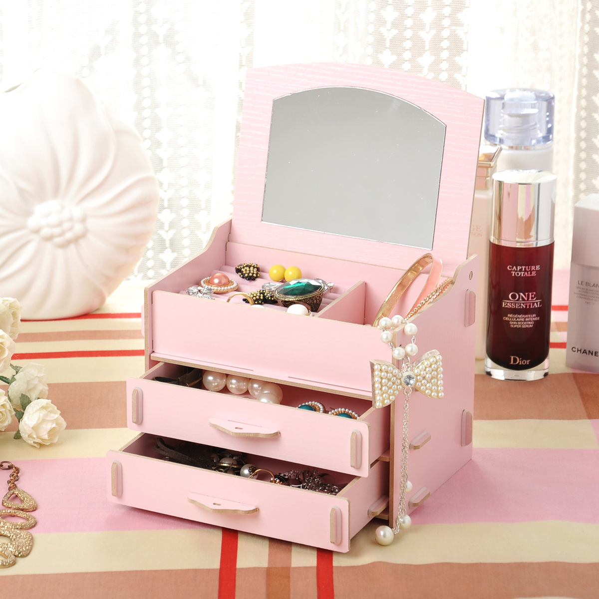 Online Get Cheap Wooden Makeup Organizer with Drawers -Aliexpress ...