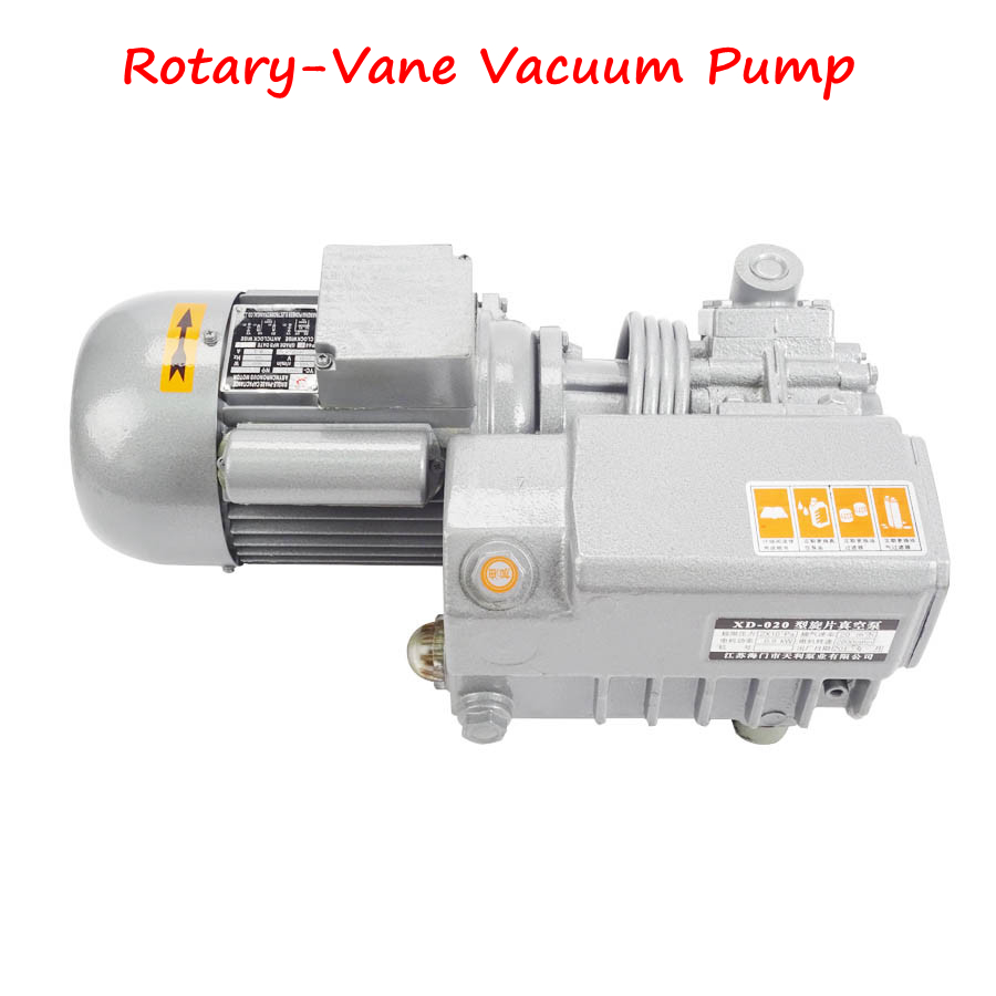 Single Stage Rotary Vane Vacuum Pump XD-020 Vacuum Suction Pump for Food Processing, Packing, Chemical xd 020 rotary vane vacuum pump vacuum packaging machine plastic machine engraving machine with vacuum pump