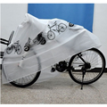 Hot sale White Bike Protection Garage Scooter Motorcycle Cover Bike Bicycle Cover Waterproof Dustproof Rain Dust Cover 1pc