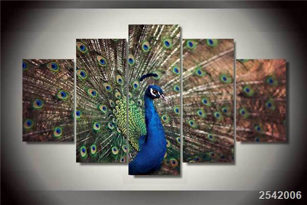Hd Printed Peacock Painting On Canvas Room Decoration Print Poster Picture Canvas Free Shipping/Ny-1673 Christmas gift Animal