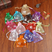 100pcs/lot 7x9cm Multi Colors Organza Bags Small Jewelry Packaging Bags Wedding Favors Drawstring Gift Bag & Pouches
